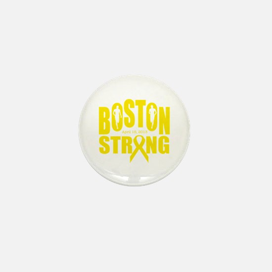 Boston strong yellow ribbon Mini Button (10 pack)