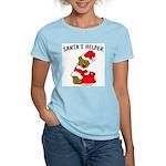 SANTA'S HELPER Women's Pink T-Shirt
