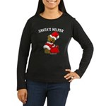 SANTA'S HELPER Women's Long Sleeve Dark T-Shirt