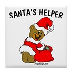 SANTA'S HELPER Tile Coaster