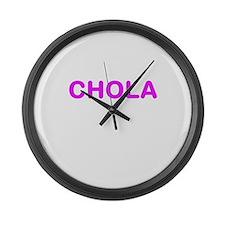 CHOLA (PINK FONT) Large Wall Clock