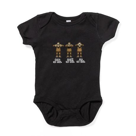hear no evil.png Baby Bodysuit