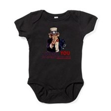 want u speak english.png Baby Bodysuit