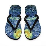 Starry night Flip Flops