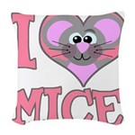 love mice.png Woven Throw Pillow
