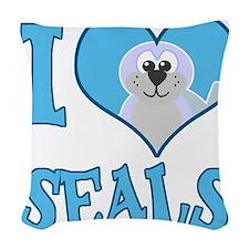love seals.png Woven Throw Pillow