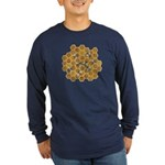 Honey Bees Long Sleeve Dark T-Shirt