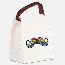 Rainbow Moustache Canvas Lunch Bag