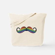 Rainbow Moustache Tote Bag