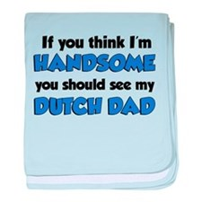 Handsome Dutch Dad baby blanket