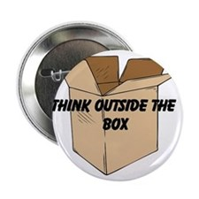 "Think Outside The Box 2.25"" Button"
