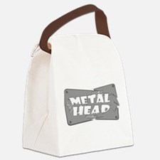 Metal Head Canvas Lunch Bag