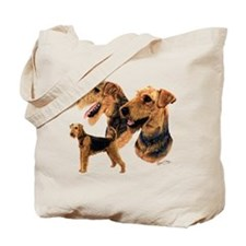 Cute Airedale terriers Tote Bag