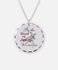 By The Blood Necklace Circle Charm