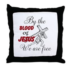 By The Blood Throw Pillow