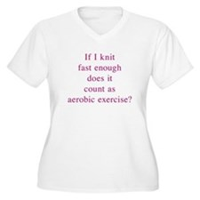 Aerobic Exercise 10x10 Plus Size T-Shirt