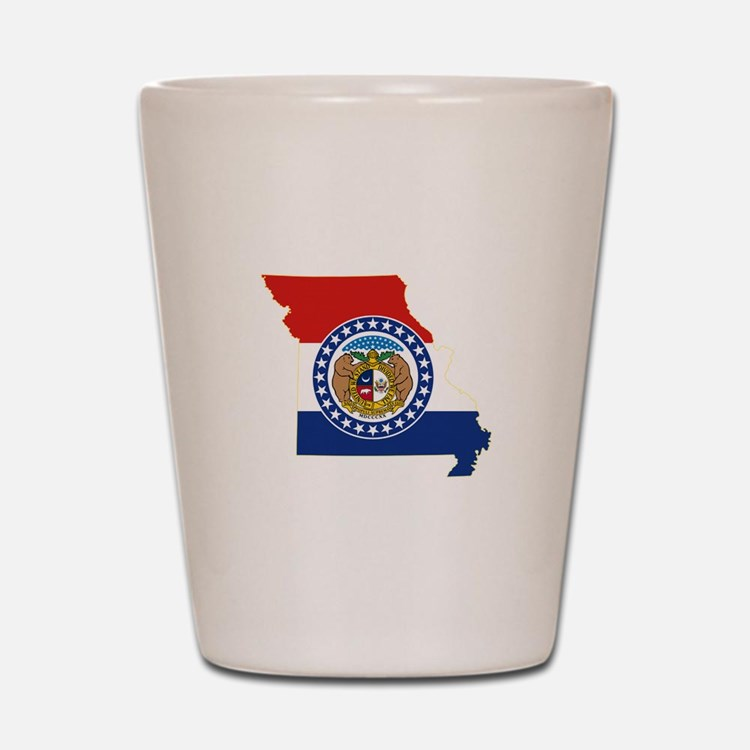 Missouri Flag Shot Glass