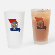 Missouri Flag Drinking Glass