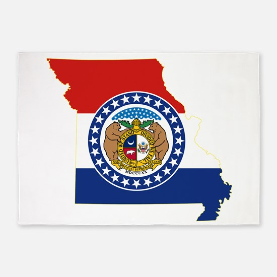 Missouri Flag 5'x7'Area Rug