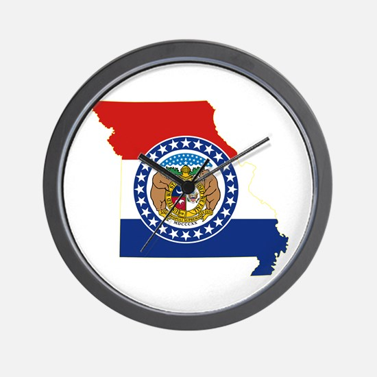Missouri Flag Wall Clock