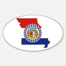 Missouri Flag Sticker (Oval)