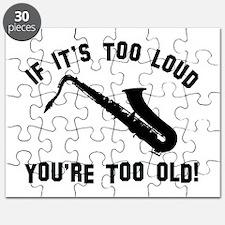 Tenor Saxophonne Vector designs Puzzle
