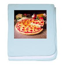 pizza pie baby blanket