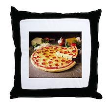 pizza pie Throw Pillow