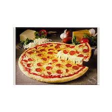 pizza pie Rectangle Magnet