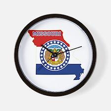 Missouri Flag Wall Clock