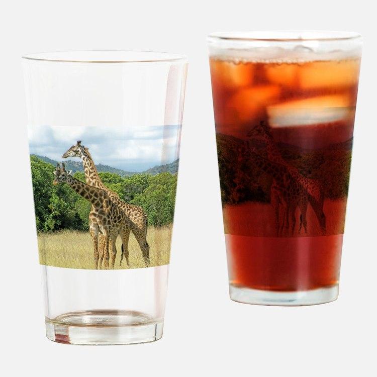 Mara Giraffes Drinking Glass