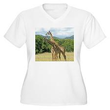 Mara Giraffes Plus Size T-Shirt
