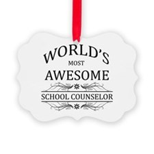 World's Most Awesome School Counselor Ornament