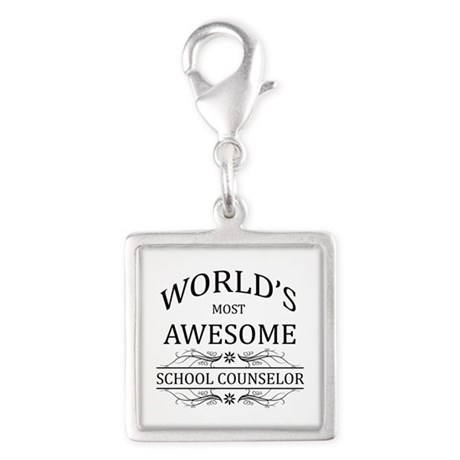 World's Most Awesome School Counselor Silver Squar