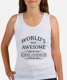 World's Most Awesome School Counselor Women's Tank