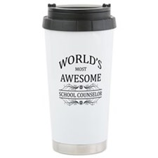 World's Most Awesome School Counselor Travel Mug