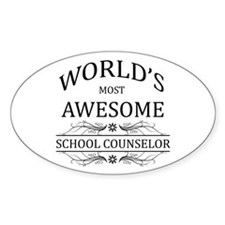 World's Most Awesome School Counselor Decal