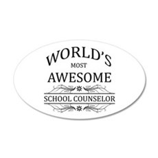 World's Most Awesome School Counselor Wall Decal