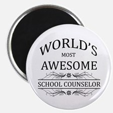"""World's Most Awesome School Counselor 2.25"""" Magnet"""
