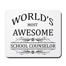 World's Most Awesome School Counselor Mousepad