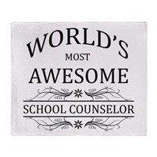 World's Most Awesome School Counselor Throw Blanke