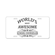 World's Most Awesome School Counselor Aluminum Lic