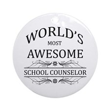 World's Most Awesome School Counselor Ornament (Ro