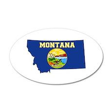 Montana Flag 20x12 Oval Wall Decal