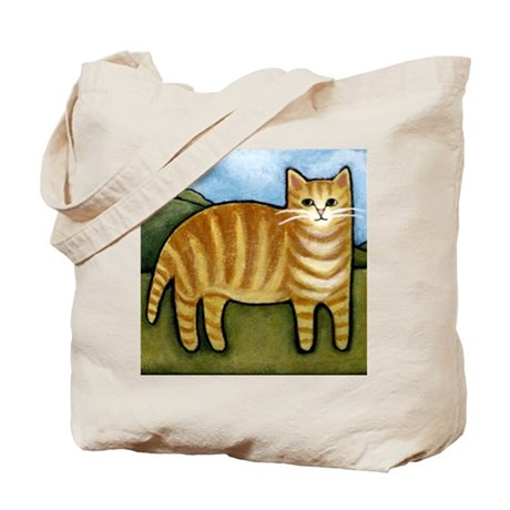 ORANGE Tabby CAT Kitten Tote Bag