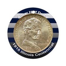 Illinois Centennial Coin Ornament (Round)