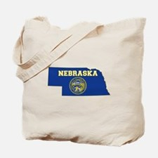 Nebraska Flag Tote Bag