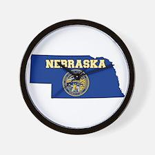 Nebraska Flag Wall Clock