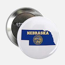 "Nebraska Flag 2.25"" Button"