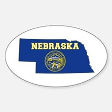 Nebraska Flag Sticker (Oval)